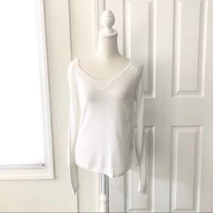 FINAL Rag & Bone Knit White Mesh Netted Sweater S